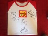 Autographed Boy zone T shirt