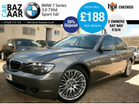 BMW 730 3.0TD auto Sport+2 OWNERS+F/S/H+NAV+2 KEYS