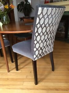Two matching Parsons chairs