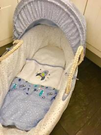 New Mothercare Space Dreamer Complete Moses Basket RRP £60