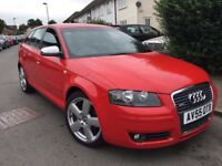 AUDI A3 2.0 TDI S-LINE 2005 DSG GEARBOX WITH F1 PADDLE SHIFTS