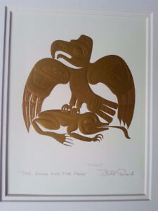 Sigend Canadian Native Art / The EAGLE & The FROG / Embossed