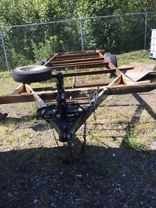 Trailer frame and axles