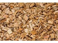 Bags of wood chip