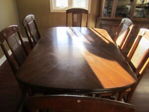 Dining table and chairs plus china cabinet