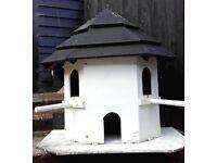 Large Dovecote Bird House Box Wooden Hand Built 2 floors 3 Entrances Garden Feature