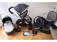 iCandy Peach 3 grey Truffle pram travel system 3 in 1 CAN POST