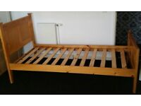 single bed pine wood frame, In very good condition.