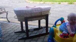 Pink Bassinet with Stand