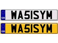 WASIM WASEEM a private number plate for sale
