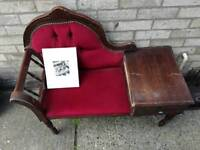 Antique looking Chaiche lounge, could do with some restoration, beautiful peice of furniture
