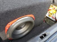 "Orion HCCA 12"" Sub Woofer/Speaker with Cabinet built in AMP for Car Stereo RRP £1000 (can post)"