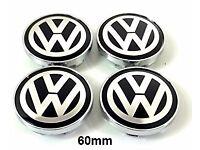 Volkswagen Genuine VW 4 x Wheel Centre Caps Set BADGES for Alloy Wheels 55,60,65,70mm SIZES