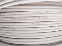 50 meter twin satellite shotgun cable extension, Sky Q, Sky HD, Sky Plus and Freesat in White