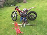 Complete trial bike setup