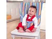 Jojo Wipe clean pack away pocket / portable high chair