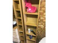 Ikea oak veneer bookcases