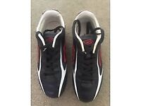 Boys' red and black football boots size 1