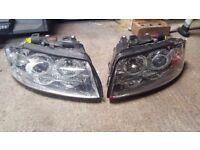 Audi A4 B6 Angel Eyes headlights * DAMAGED *