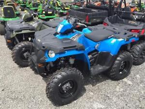 OUT THE DOOR PRICE!  2017 POLARIS SPORTSMAN 570 - GREEN & BLUE