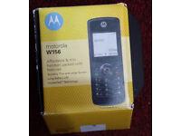 MOTOROLA W156 , BRAND NEW , black , Classic , locked to Virgin Mobile , Phone Handset