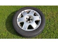 """Vw alloys wheels 16""""with tyres and caps golf bora"""