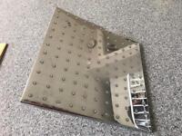 Steel square shower head