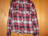 Girls H&M Age 10 Checked Shirt