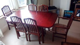 Mahagany Table and 6 chairs