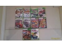 Ten XBOX 360 excellent condition video games - 2 for Kinect