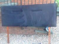 Black suede headboard king size