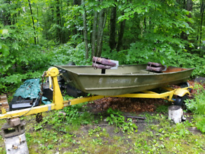 12ft Jon boat and trailer for sale