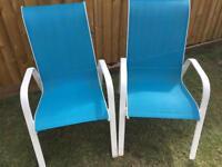 2 x garden seats 'Janeiro' from B&Q