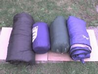 4 Sleeping Bags - A Double Sleeping Bag + 3 Single Bags - Heathrow