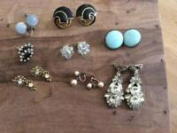 Collection of 8 pairs of vintage ear rings