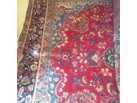 Traditional vintage Persian wool rug.