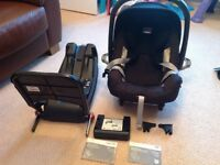 Britax safety plus car seat and isofix base