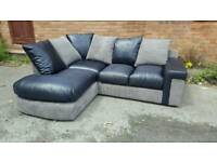 Lovely BRAND NEW black and grey corner sofa .good quality.any side.can deliver