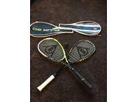 Squash rackets, very good hardly used