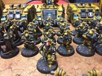 Warhammer 40k/30k imperial fists troops