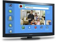 """37"""" Panasonic Viera TX-P37C10B HD Plasma Television with built in Freeview HDMI SCART Remote control"""