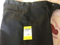 """Aitken and Niven boys/men's 32"""" Long 34"""" Charcoal grey trousers"""