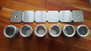 Magnetic Canister Spice Rack/Organizer