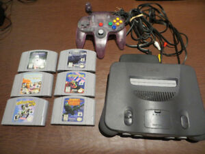 Nintendo 64 with 6 entry level games