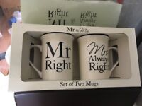 Mr Right & Mrs Always Right Set of 2 mugs