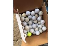 Large box of golf balls
