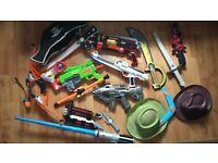 Bundle of boys toy guns/swords/light sabre etc
