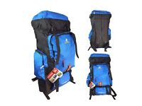 70L BLUE CAMPING BAG