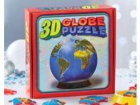 60 Piece 3D Globe Jigsaw (NEW)