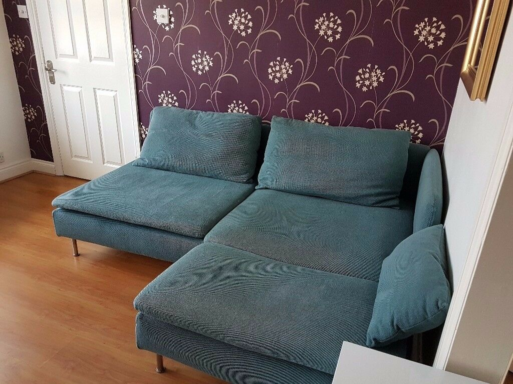 Sofa Ikea Soderhamn 1 Year Old Great Condition Turquoise